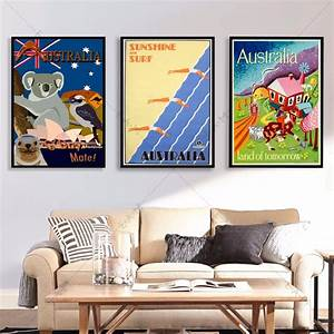 Australia, Travel, Vintage, Posters, And, Prints, Canvas, Art, Painting, Wall, Pictures, For, Living, Room