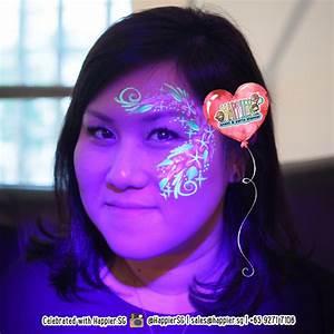 Glow in the Dark UV Face Paint Makeup Artist
