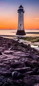 lighthouse, wallpaper, 4k, , beach, , rocky, coast, , sunset, , blue