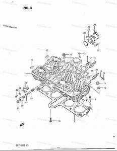Suzuki Motorcycle 1982 Oem Parts Diagram For Cylinder Head