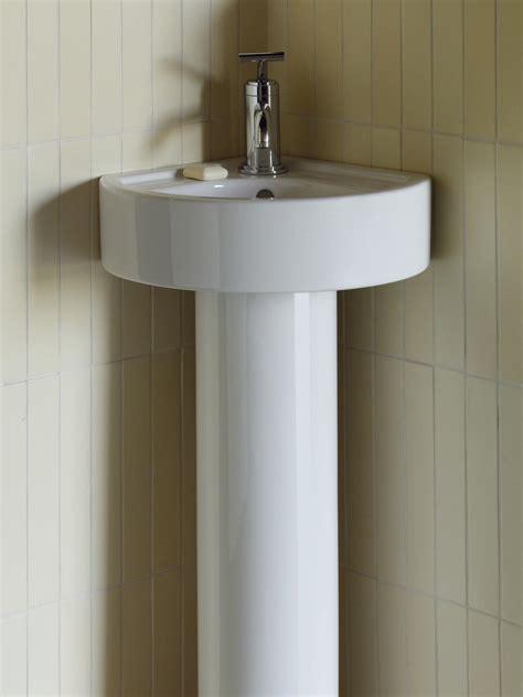 small corner bathroom sink with pedestal bathroom sink 101 hgtv