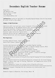 resume samples secondary english teacher resume sample With english teacher resume