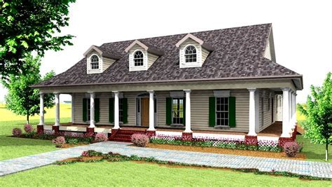 Country Style House Plan   3 Beds 2.5 Baths 2123 Sq/Ft