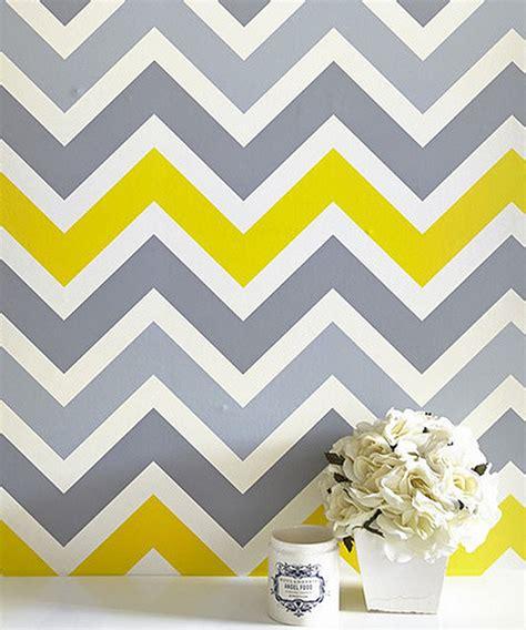 gray yellow chevronwallpaper modern wallpaper interior designs