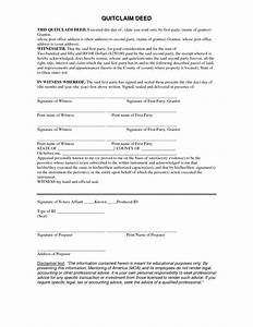 free 5 printable quit claim deed form template pdf sample With quit claim deed template free download