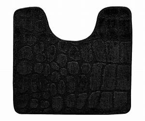 tapis contour wc toilette lavabo tendance croco chic With tapis pour toilette