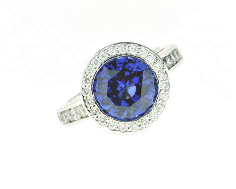 halo ring blue sapphire halo ring