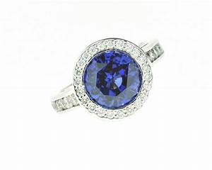 Blue sapphire and diamond engagement ring worthington for Sapphire engagement ring and wedding band set