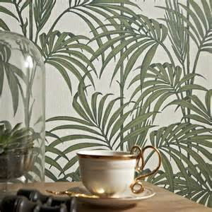 designer wallpaper uk graham brown palm tree pattern leaf glitter motif wallpaper 32 969