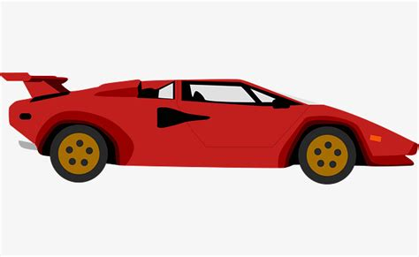 red remodeling sports car car vector sports clipart car