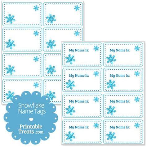 snowflake  tags snowflake gift tags christmas