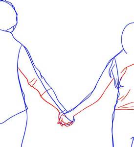 How to Draw People Holding Hands