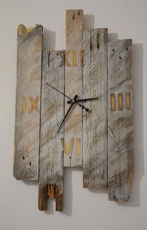wooden wall clock modern clock reclaimed pallet rustic