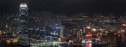 Monitor Hong Kong Screen China Cityscape Triple