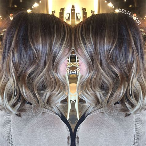 Cool Hair Highlights For Brown Hair by Balayaged Dimensional Brown Root With Cool Toned
