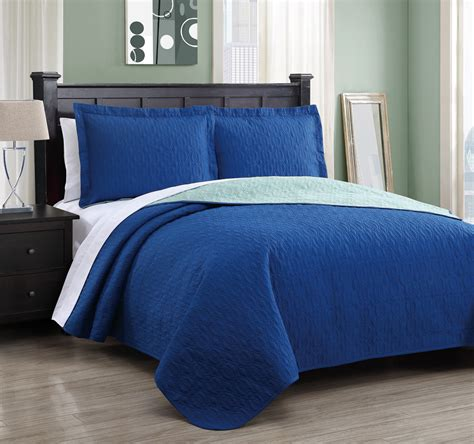 Royal Blue Bed Sheets  Traditional Bedroom With Twin Blue