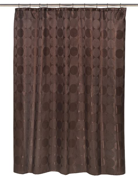 quot jacquard circles quot fabric shower curtain in brown