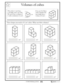 great for beginners volume worksheet math