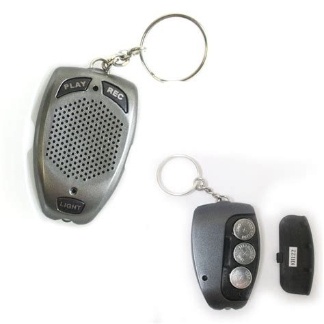 Digital Voice Recorder Keychain Seconds Led