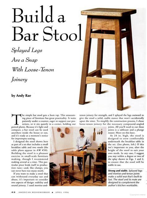 bar stool plans woodwork city  woodworking plans