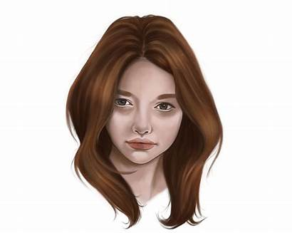 Hair Digital Realistic Photoshop Painting Paint Mastering