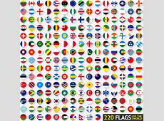 World flags round icons vector Free vector in Encapsulated