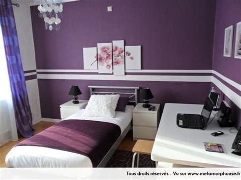 deco chambre violette déco intérieur pourpre modernes couleurs de peinture de