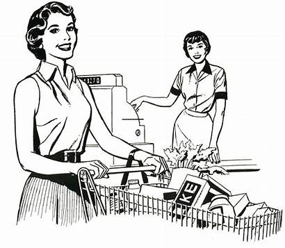 Supermarket Coloring Nostalgia Drawing Grocery Mom Brady