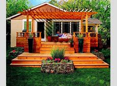 Awesome backyard deck design