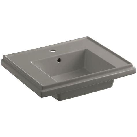 kohler tresham sink home depot kohler tresham 7 3125 in fireclay pedestal sink basin in