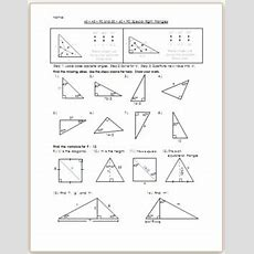 454590 And 306090 Special Right Triangles  Practicehw By Eric Douce