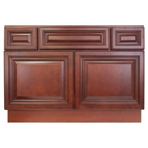 Bathroom Sink Cabinets by Lesscare Cherryville 42 Quot Bathroom Maple Vanity Sink Base