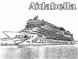 Ship Cruise Coloring Pages Aidabella Alvin Netart Chipmunk sketch template