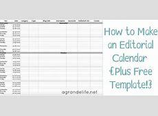 How to Make an Editorial Calendar + Free Template