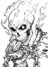 Rider Ghost Coloring Spawn Deviantart Dibujos Pencil Marvel Chrisozfulton Drawing Comic Colorear Tattoo Fantasma Template Motorcycle Face Skull Sketch Comics sketch template