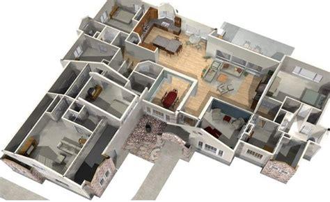 denah desain rumah minimalis modern  kamar tidur