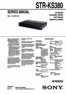 Sony Ht-ss380  Str-ks380 Service Manual