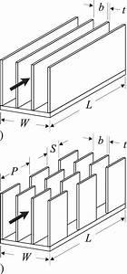 Schematic Of Heat Sink Geometry A  Plate Fin Heat Sink B  Slotted Plate