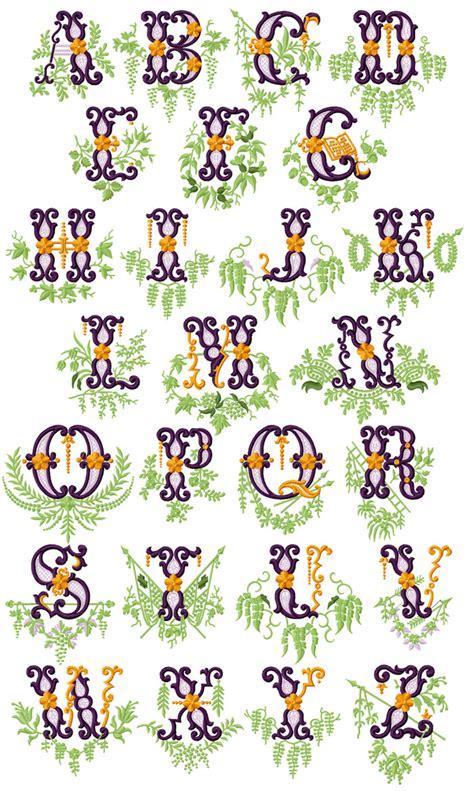 abc designs vintage garden alphabet machine embroidery