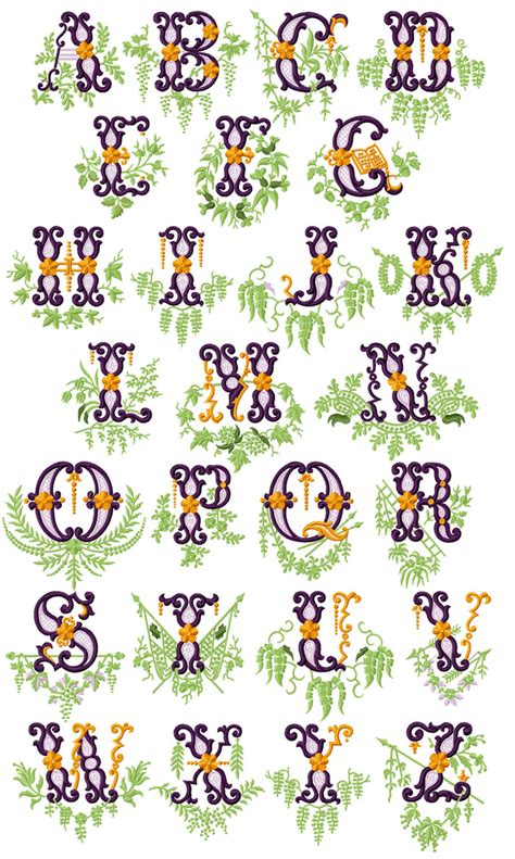 vintage garden alphabet