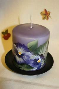 17 best images about hand painted candles on pinterest With what kind of paint to use on kitchen cabinets for hand painted candle holders