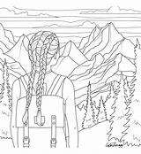 Coloring Adult Hiking Printable Colouring Sheets Barbie Aesthetic Vsco Sheet Drawing Drawings Colorear Dibujos Malvorlagen Xxl Colorful Patrones sketch template
