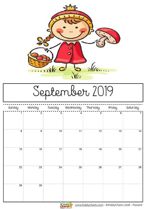 printable  calendar print   kiddycharts