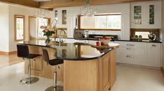 Soup Kitchens Island Shaker Kitchen With Curved Island From Harvey Jones