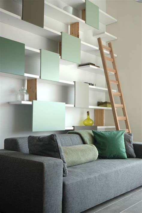 Contemporary High Loft Wall Shelf Designs By Ontwerpduo