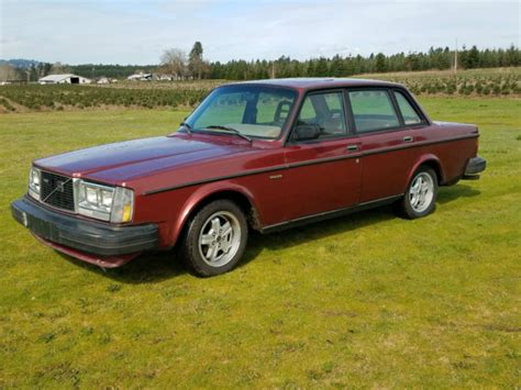 volvo  turbo  intercooled redwood red tan