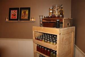 Using Pallets to Build A Canning Pantry Cupboard - An