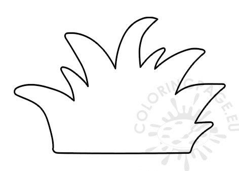printable grass template coloring page