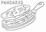 Pancake Coloring sketch template