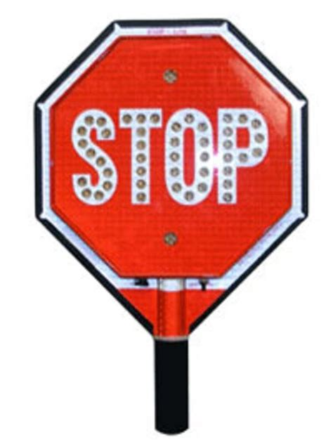 traffic safety 12 quot stop stop led handheld sign crossing guard ebay
